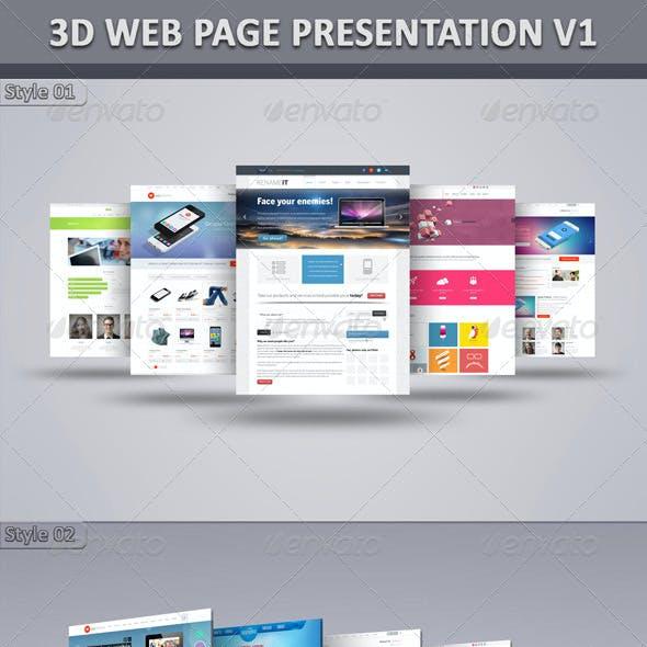 3D Web Page Presentation V1