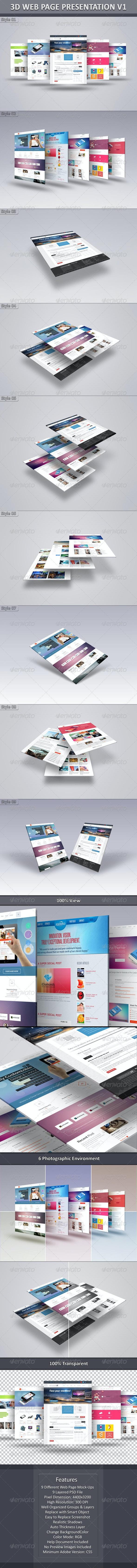 3D Web Page Presentation V1 - Website Displays