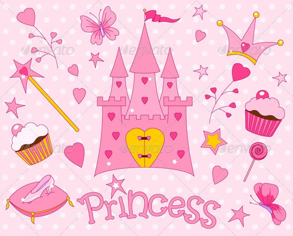 Sweet Princess Icons - Objects Vectors