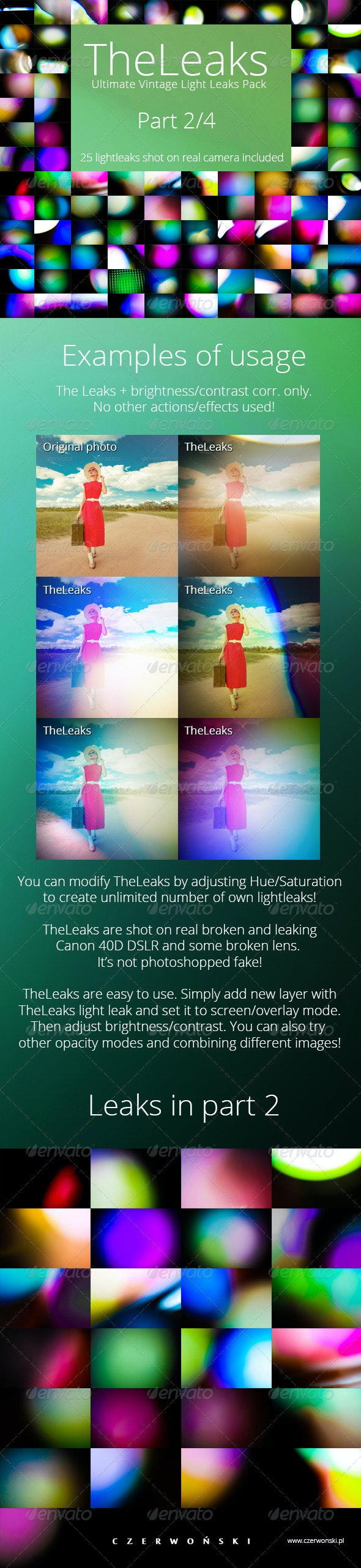 TheLeaks - Ultimate Vintage Light Leaks Pack 2/4 - Backgrounds Decorative