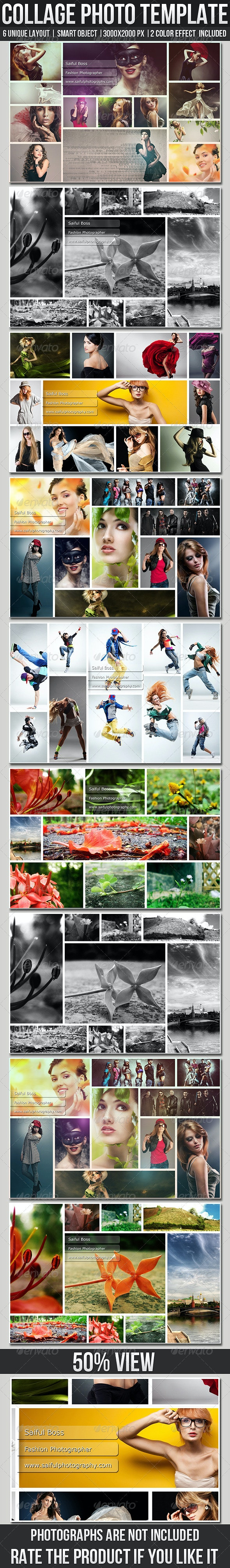 Collage Photo Templates - Photo Templates Graphics