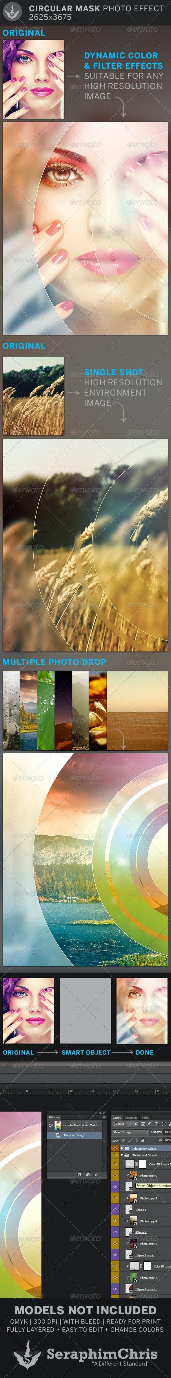Circular Mask Photo Effect Template - Artistic Photo Templates