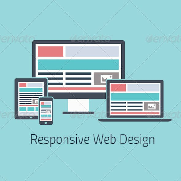 Responsive Web Design Development Flat