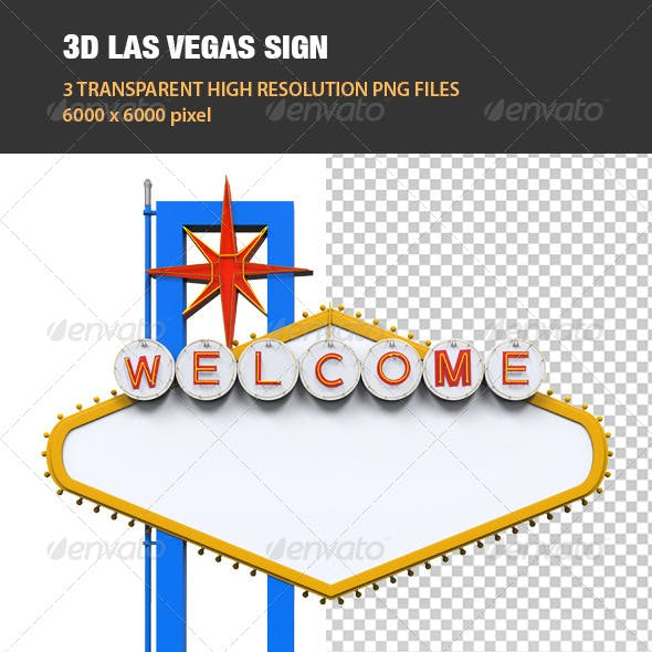 3D Las Vegas Sign