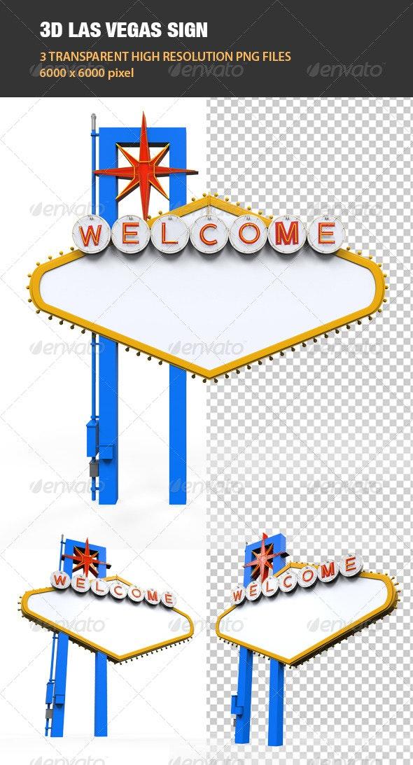 3D Las Vegas Sign - Objects 3D Renders
