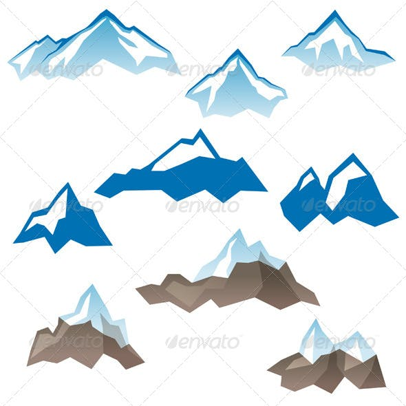 Stylized Mountains Icons