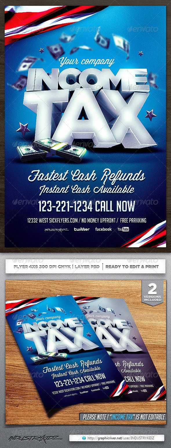 Income Tax Flyer Template - Corporate Flyers