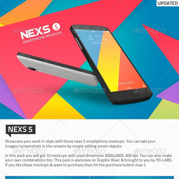 3D and Nexus 5 Graphics, Designs & Templates from GraphicRiver