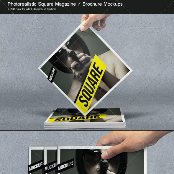 Square Magazine / Brochure Mockups
