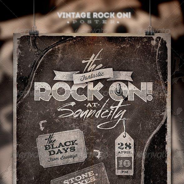 Rock On! Vintage Poster/Flyer