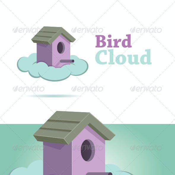 Bird Cloud Logo Template