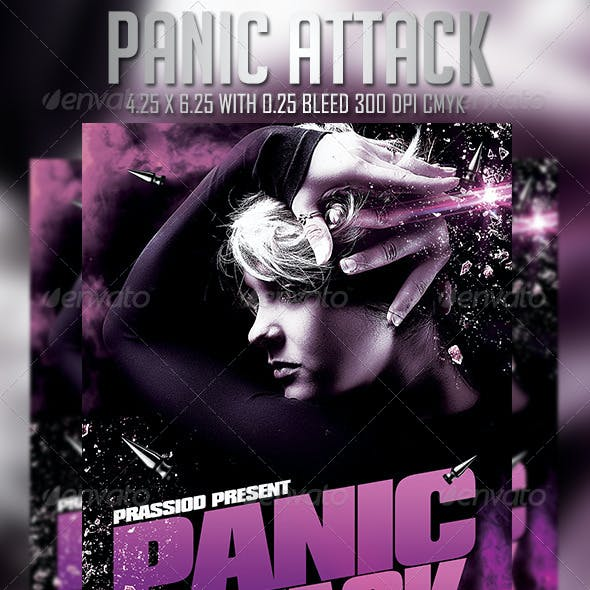 Panic Attack Flyer Template
