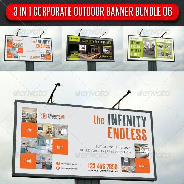 3 in 1 Corporate Outdoor Banner Bundle 06