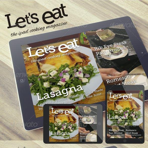 Cooking iPad Magazine That Looks Like a Blog