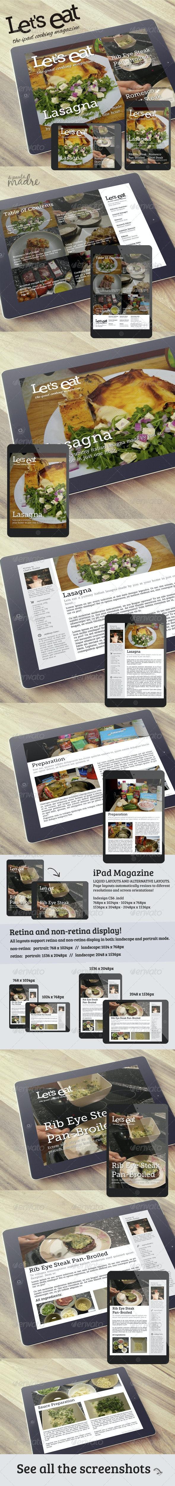 Cooking iPad Magazine That Looks Like a Blog  - Digital Magazines ePublishing