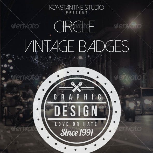 Circle Vintage Badges Pack