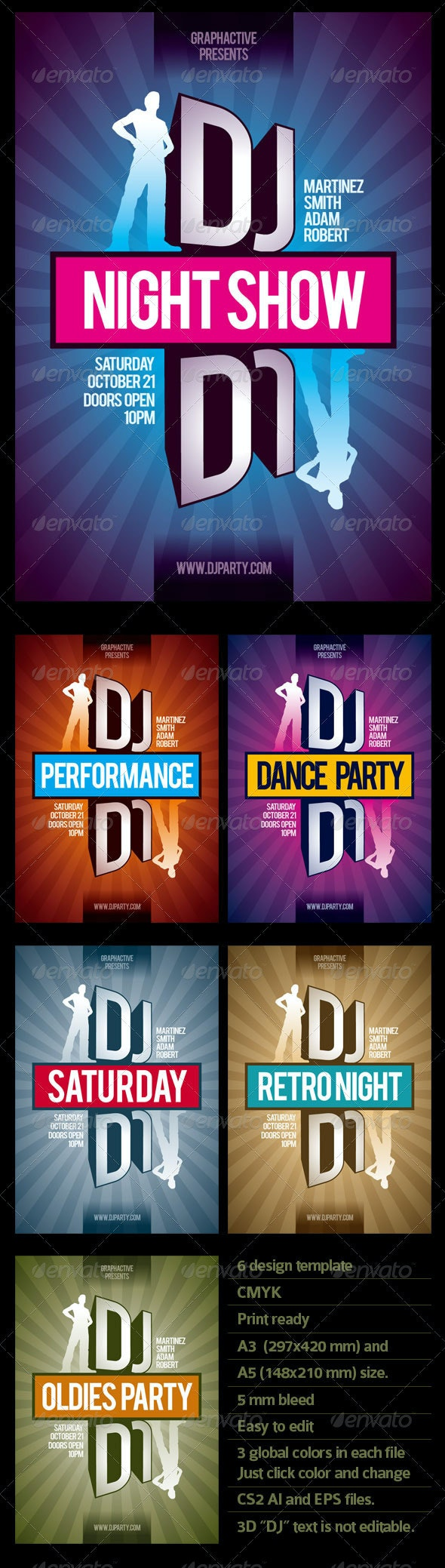 DJ Flyer & Poster Template Collection - Clubs & Parties Events