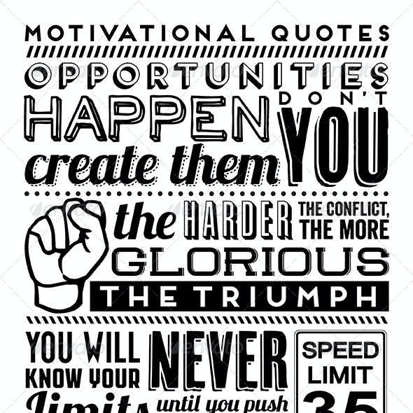 Set of Typographic Motivational Quotes
