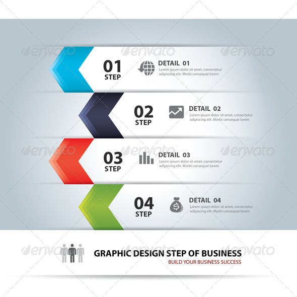 Business Step Chart and Numbers Design Template