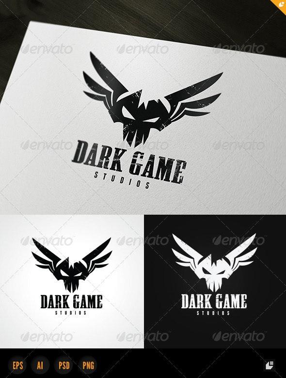 Dark Game Logo - Vector Abstract