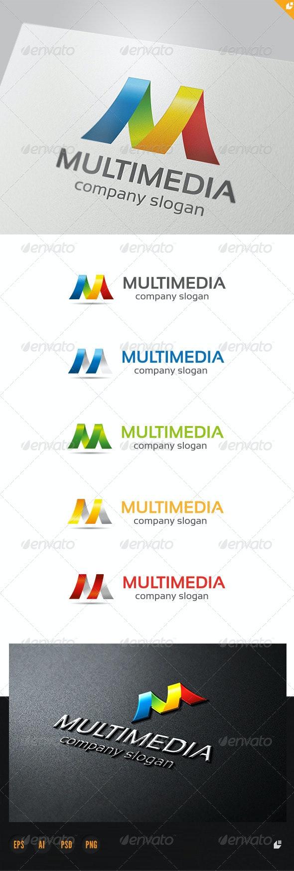 Multimedia Logo - 3d Abstract