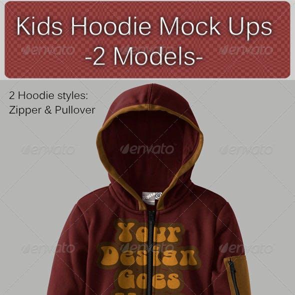 Kids Hoodie Mock Ups