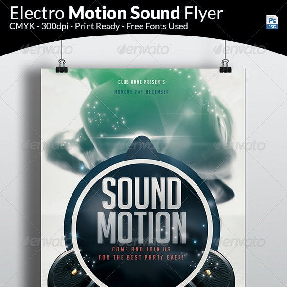 Electro Motion Music Flyer