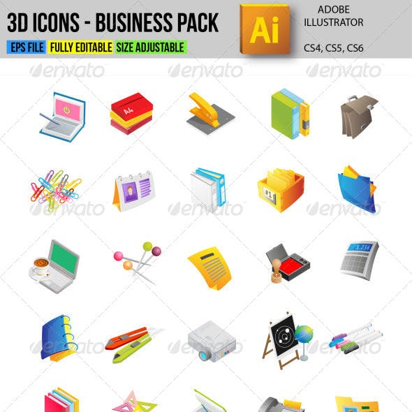 3D Icons - Business Pack