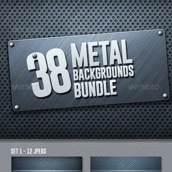 42 Metal Backgrounds Bundle