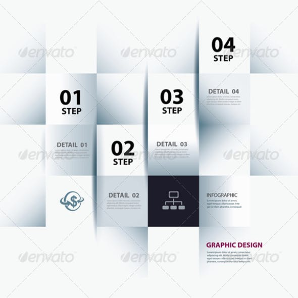 Infographic Step and Numbers Design Template