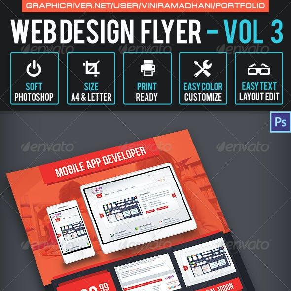 Web Design Flyer | Volume 3