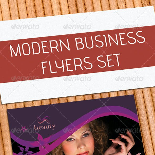 Modern Business Flyers Set