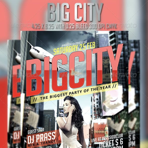 Big City Flyer Template