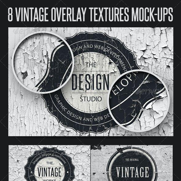 8 Vintage Overlay Textures Mock-Up