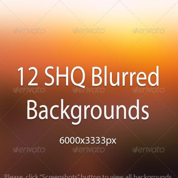 12 SHQ Blurred Backgrounds