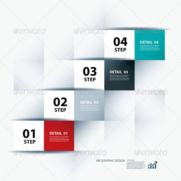 Infographic Business Step and Design Template