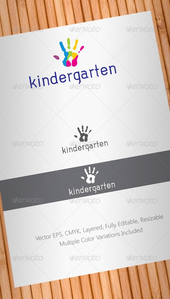 Kindergarten Logo Template - Humans Logo Templates