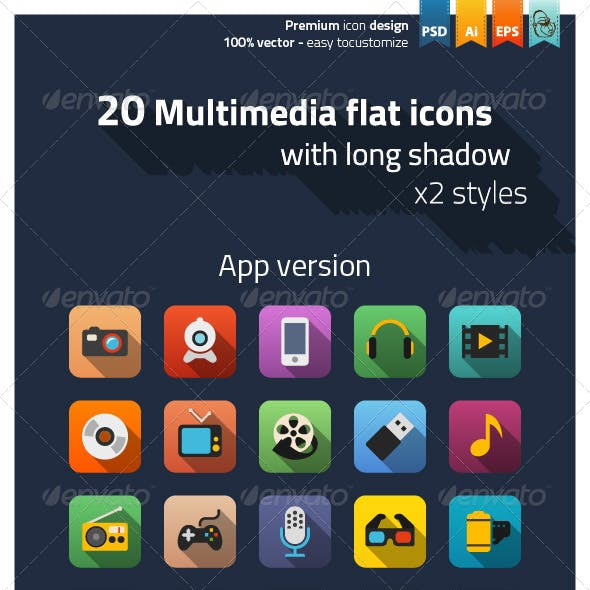 Play Media Icons from GraphicRiver