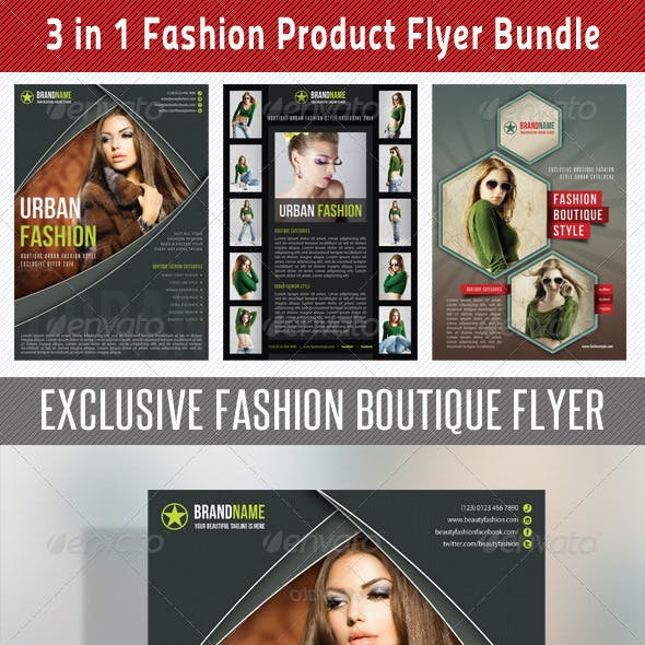 3 in 1 Fashion Product Flyer Bundle 12