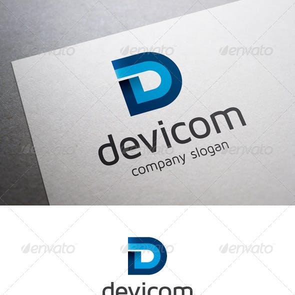 Devicom D Letter Logo