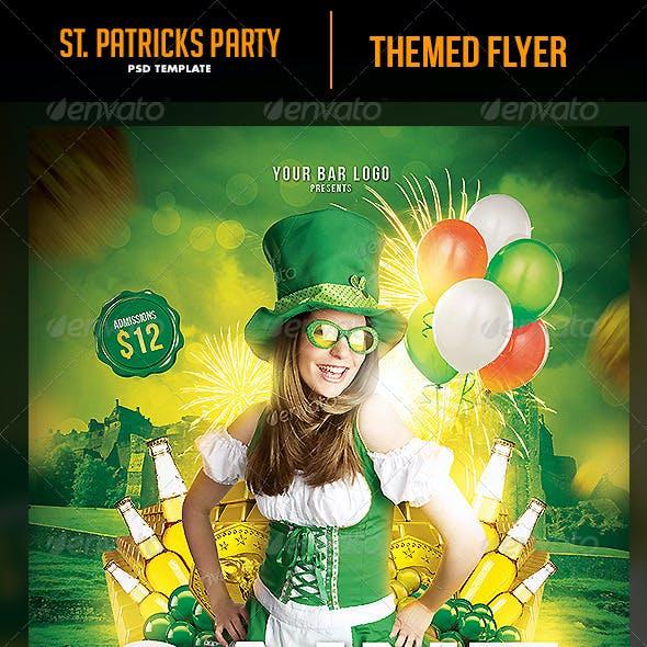 Saint Patricks Party Night Flyer Template
