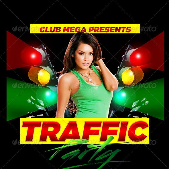 Traffic Party Flyer Template