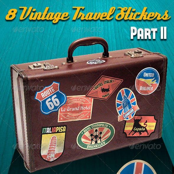 Vintage Travel Stickers Part 2