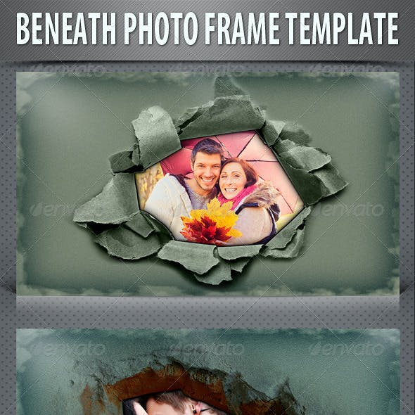 Beneath Photo Frame Template