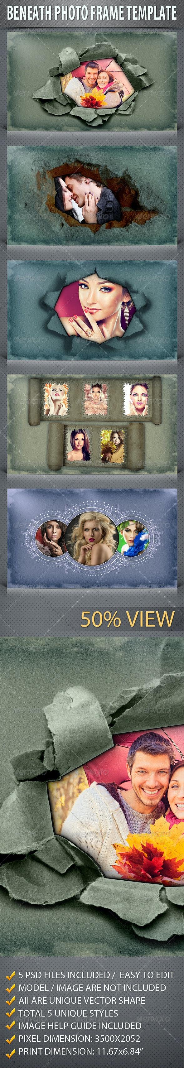 Beneath Photo Frame Template - Photo Templates Graphics