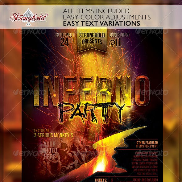 Inferno Party Club Event Flyer Template