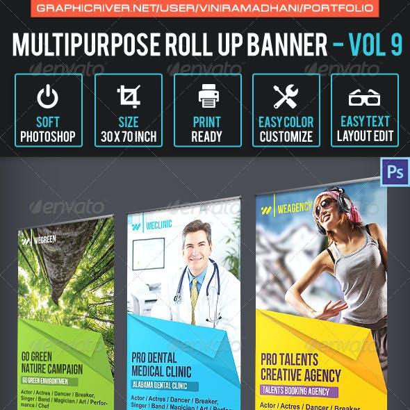 Multipurpose Roll Up Banner | Volume 9