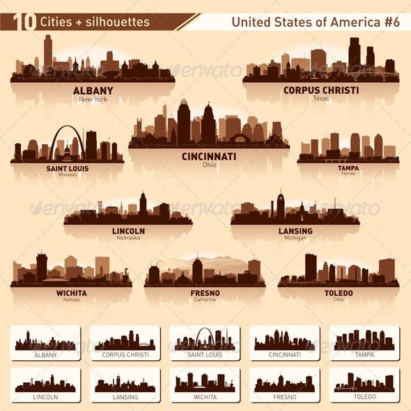 Skyline City Set. 10 Cities of USA #6