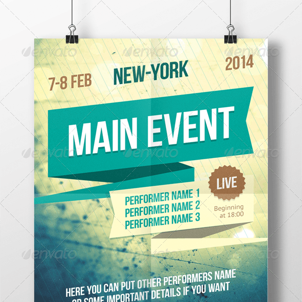 Multipurpose poster template
