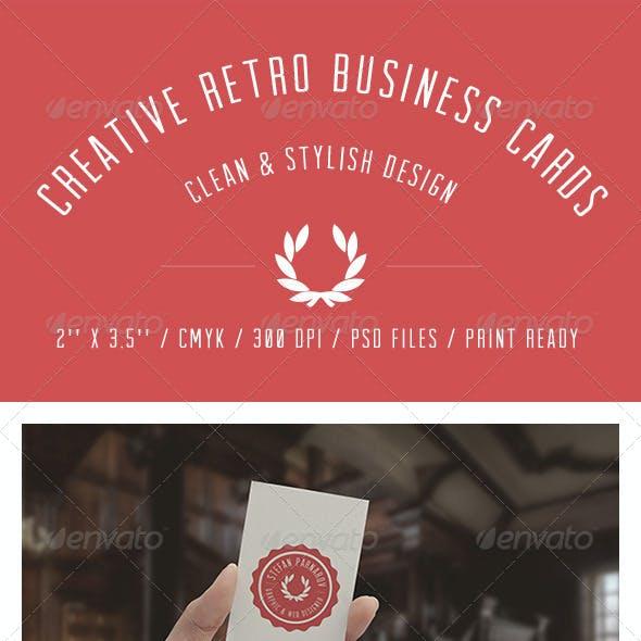 Creative Retro Business Cards